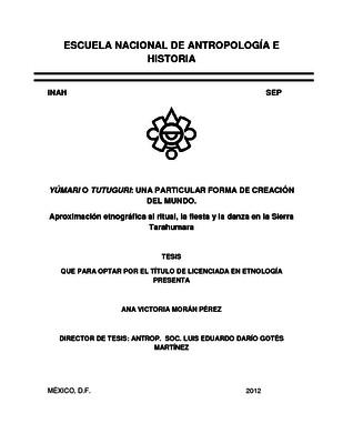 Yúmari o tutuguri: una particular forma de creación del mundo