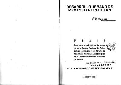 Desarrollo urbano de México-Tenochtitlan