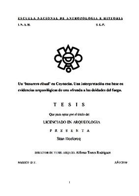 """Un """"basurero ritual"""" en Coyoacán. Una interpretación con base en evidencias arqueológicas de una ofrenda a las deidades del fuego"""