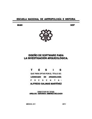 Diseño de software para la investigación arqueológica
