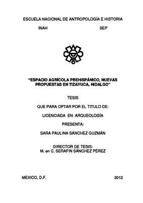 Espacio agrícola prehispánico, nuevas propuestas en Tizayuca, Hidalgo
