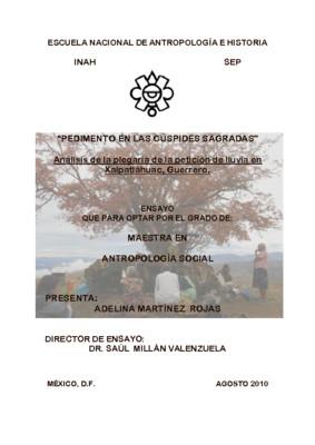 Pedimento en las cúspides sagradas: análisis de la plegaria de la petición de lluvia en Xalpatlahuac, Guerrero