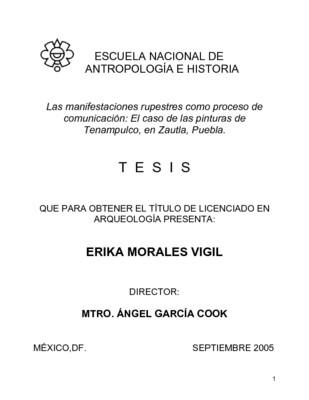Las manifestaciones rupestres como proceso de comunicación: el caso de las pinturas de Tenampulco, en Zautla, Puebla