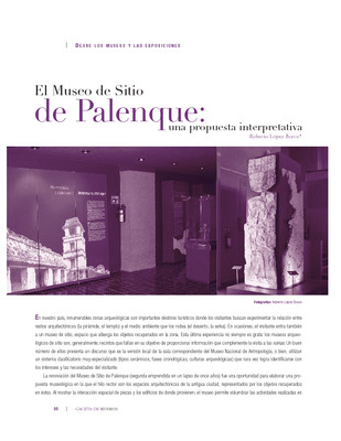 El Museo de Sitio de Palenque: una propuesta interpretativa