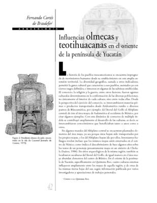 Influencias olmecas y teotihuacanas en el oriente de la península de Yucatán