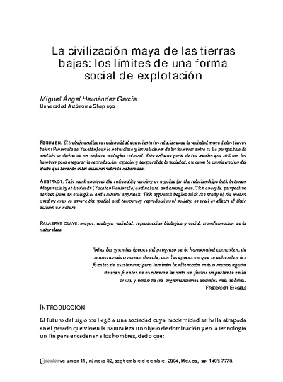 La civilización maya de las tierras bajas: los límites de una forma social de explotación