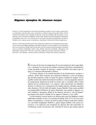 Algunos ejemplos de almenas mayas