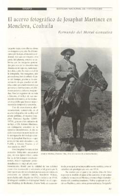El acervo fotográfico de Josaphat Martínez en Monclova, Coahuila