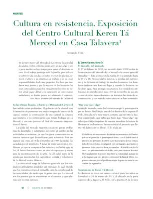 Cultura en resistencia. Exposición del Centro Cultural Keren Tá Merced en Casa Talavera