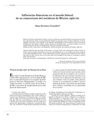 Influencias femeninas en el mundo laboral de un comerciante del occidente de México, siglo XIX