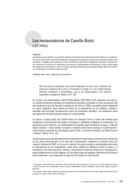 Los restauradores de Camillo Boito