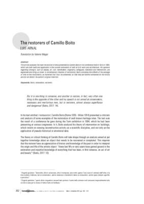 The restorers of Camillo Boito