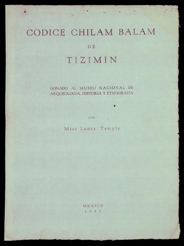 Libro de Chilam Balam de Tizimín