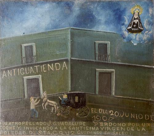 Exvoto del milagro realizado a J. Guadalupe Perdomo