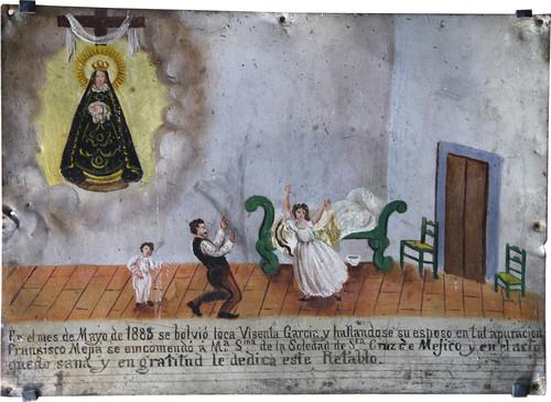 Exvoto del milagro realizado a Vicenta García