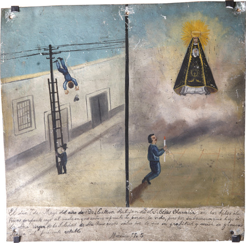 Exvoto del milagro realizado al señor Elias Chavaria