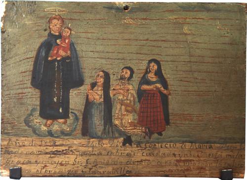 Exvoto del milagro realizado a María Diego L