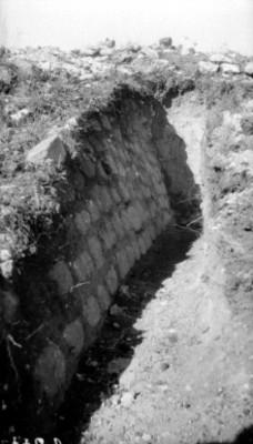 Excavación en Yagul, detalle