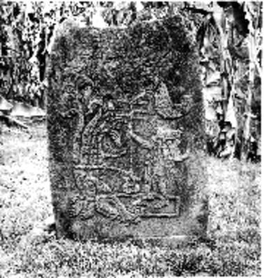 Estela 25 de Izapa, vista frontal, reprografía