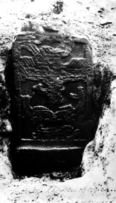 Estela 2 de Izapa, vista frontal