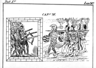 Códice Durán, españoles contra mexicanos a su huida de la ciudad, reprografía