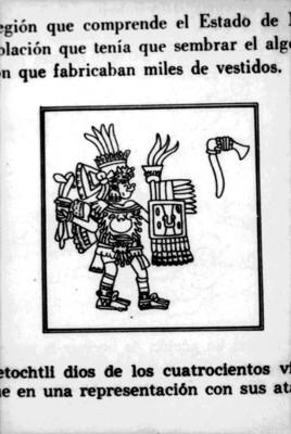Ilustración del dios Tepoztécatl, reprografía