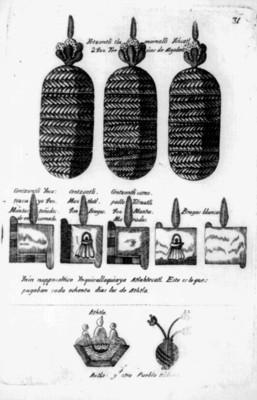 Ilustración de la lámina 30 de la Matrícula de Tributos, reprografía