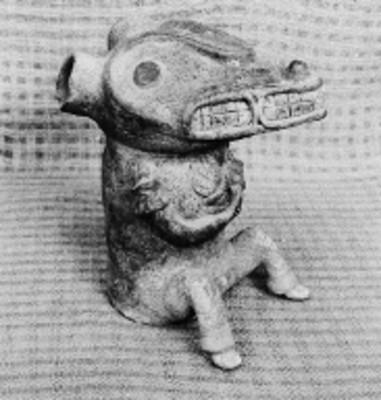 Tlacuache elaborado en cerámica, El Chanal, Colima