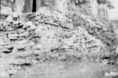 Detalle del pórtico en el Templo el Conde, Palenque