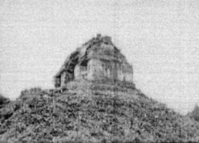 Adoratorio del Templo el Conde sin restaurar, Palenque