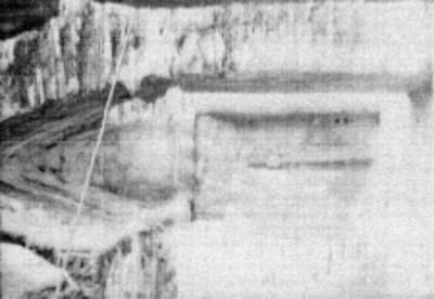 Vista parcial de la crujía del Templo el Conde, Palenque