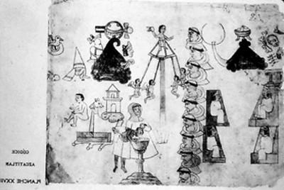 Lámina XXVll del Códice Azcatitlan, reprografía