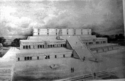 Dibujo del Palacio de Sayil