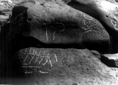 Petroglifos de las Labradas con figuras zoomorfas y antropomorfas