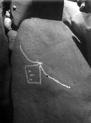 Detalle de un petroglifo de las Labradas