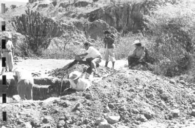 Trabajos de excavación en Yagul