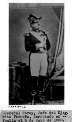 Retrato del General Forey, reprografía