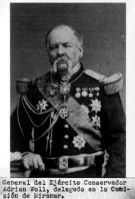 Retrato del general Adrian Woll, reprografía