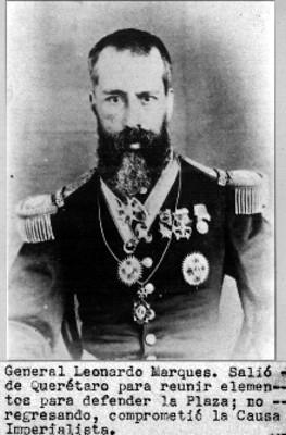 Retrato del General Leonardo Marquez, reprografía