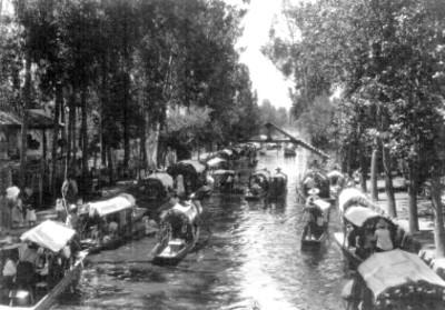 Trajineras en Xochimilco, aspecto
