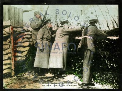 En una trinchera alemana