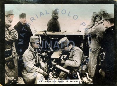 Un cañón austriaco en acción