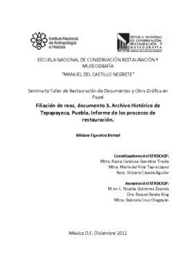 Archivo Histórico de Tepapayeca, Puebla, Documento 3: Filiación de reos