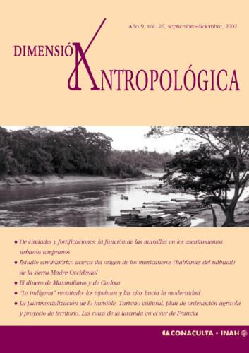 Dimensión Antropológica -  Vol. 26 (2002)