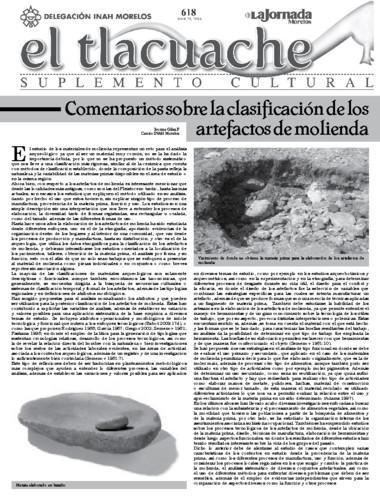 El Tlacuache Núm. 618 (2014)