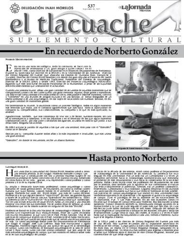 El Tlacuache Núm. 537 (2012)