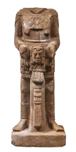 Escultura de hombre ricamente ataviado
