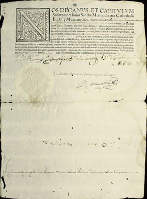 Libro Diocesano 219 de la sección Gobierno serie Mandatos-Notificaciones
