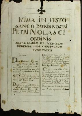 Libro Diocesano 471 de la sección Gobierno serie Religiosos-Mercedarios