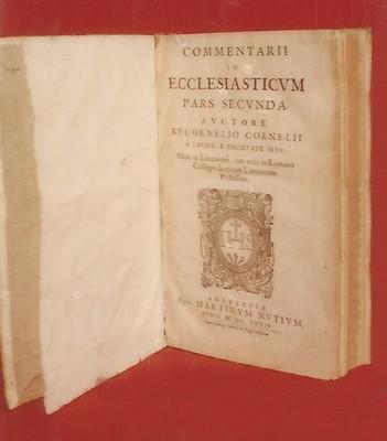 Libro Comentarii in Ecclesiastivm Pars Secunda